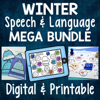 Winter Speech & Language MEGA BUNDLE - Artic., Receptive & Expressive Language