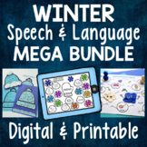 Winter Speech & Language MEGA BUNDLE -Receptive & Expressive Language Activities