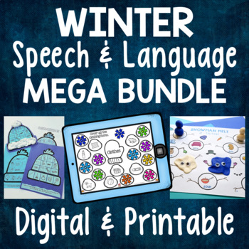 Winter Speech & Language Bundle - Receptive & Expressive Language Activities