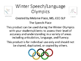 Winter Speech/Language Olympics