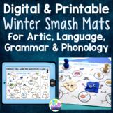 Winter Speech & Language Smash Mats - Speech Therapy Activity