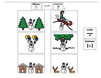 Winter Speech-Language Therapy Materials-Autism/Language Delays