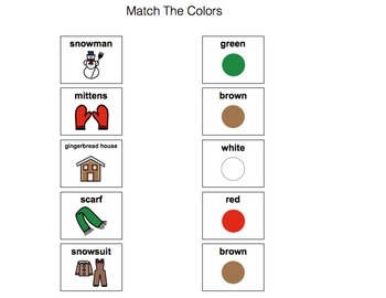 Winter Speech-Language Therapy Materials-Early Learners-Autism/Language Delays
