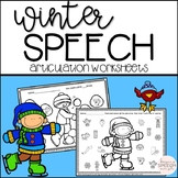 Winter Speech No Prep Articulation Worksheets