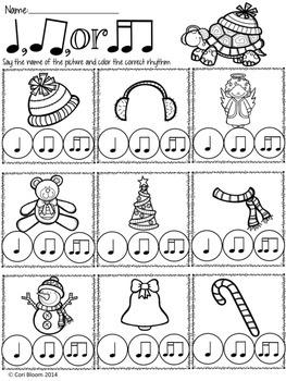 FREE Winter Speech Rhythm Printable Worksheets