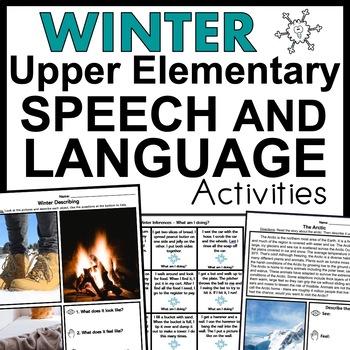 Winter Speech Therapy Activities
