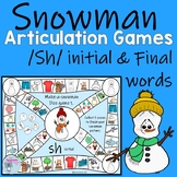 Winter Speech Therapy Articulation games for sh words