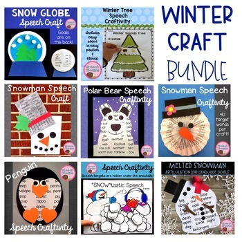 Winter Speech Therapy Craft BUNDLE {8 products}
