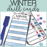 Winter Speech Therapy Drill Cards for Speech and Language