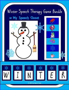 Winter Speech Therapy Game Bundle