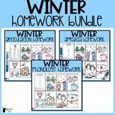 Winter Speech Therapy Homework Bundle