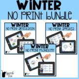 Winter Speech Therapy NO PRINT Bundle