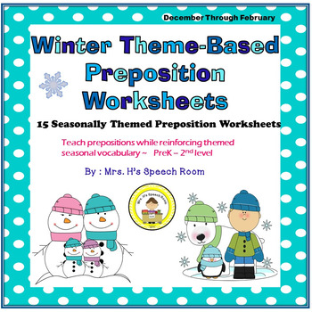 Winter Speech Therapy Prepositions