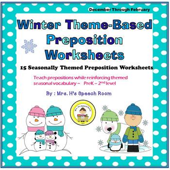 Winter Speech Therapy Prepositions