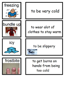 Winter Speech Therapy Printable Activities, Autism
