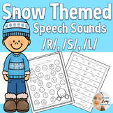 Speech Therapy in Winter for Articulation /R/, /S/, & /L/