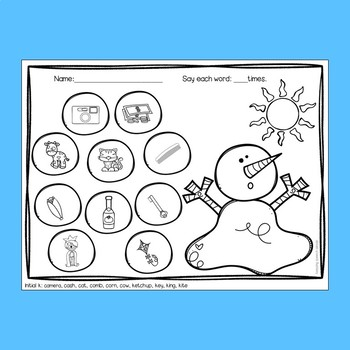 Winter Speech Therapy for Articulation - Snowmen themed