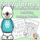 Speech Therapy Winter Describe, Directions, & Sentences