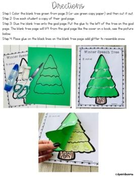 Winter Tree Speech Therapy Craft