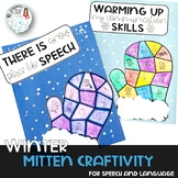 Winter Mitten Craft for Speech Therapy