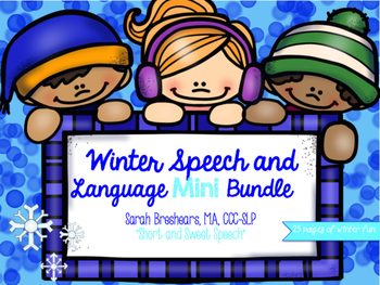 Winter Speech and Language Mini Bundle