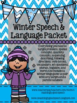 Winter Speech and Language Packet!