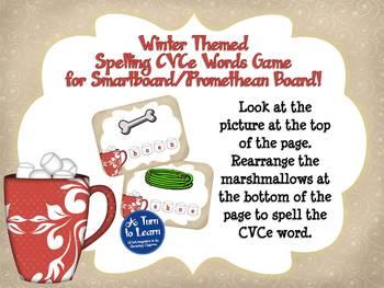 Winter Spell the CVCe/Super E Words Game for Smartboard or Promethean Board!