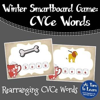 Winter Spell the CVCe/Super E Words Game for Smartboard or