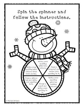 Winter Spelling Activities