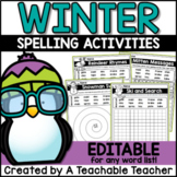 Winter Spelling Activities - EDITABLE