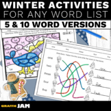 Winter Spelling Activities for ANY List of Words Elementary Students