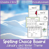 EDITABLE Winter Spelling Choice Board