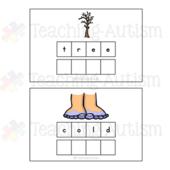 Winter Spelling and Handwriting Task Cards