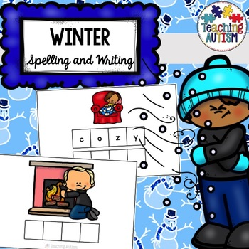 Winter Spelling and Writing Task Cards