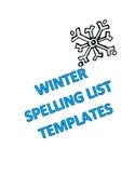 Winter Spelling List Templates