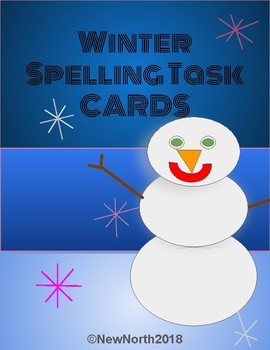 Winter Spelling Task Cards