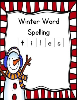 Winter Spelling Tiles