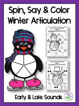 Winter Spin, Say & Color Articulation
