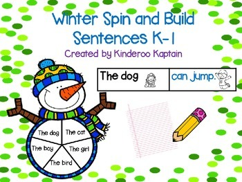 Winter Spin and Build Sentences