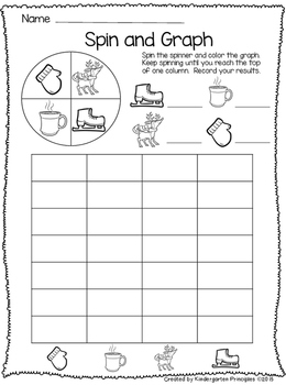 Winter Spin and Graph - FREEBIE!