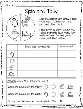 Winter Spin and Tally - FREEBIE!