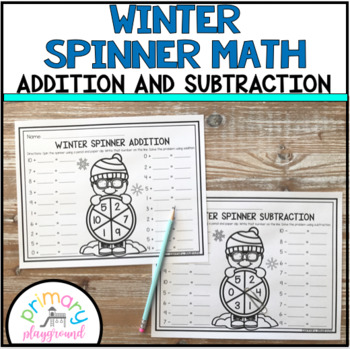 Winter Spinner Math Addition and Subtraction