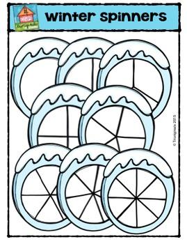 Winter Spinners  (P4 Clips Trioriginals Digital Clip Art)