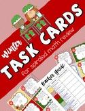 Winter Spiraled Math Task Cards w/ Teacher Guide Checklist