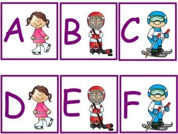 Winter Sport Alphabet Cards