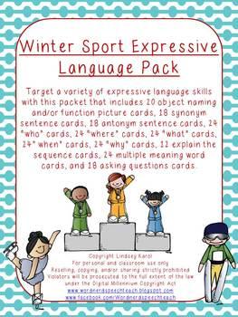Winter Sport Expressive Language Pack