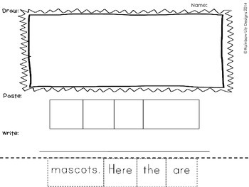 Winter Sport Fun Literacy Activities_Paste Write Draw