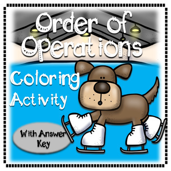 Order of Operations Coloring Ice Skating