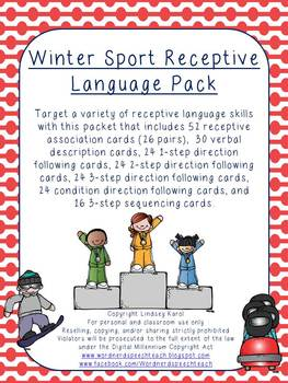 Winter Sport Receptive Language Pack