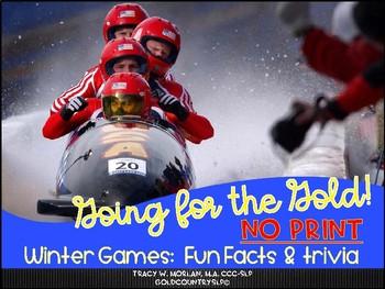 Winter SportGames ePack! No print! NO prep! INTERACTIVE!